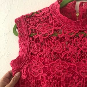 Nanette Lepore crochet lace sleeveless top. NWOT